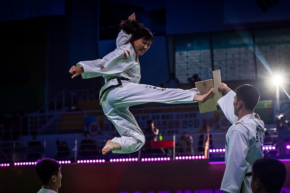 The International Taekwondo Federation Demonstration Team performed at the Closing Ceremony ©World Taekwondo