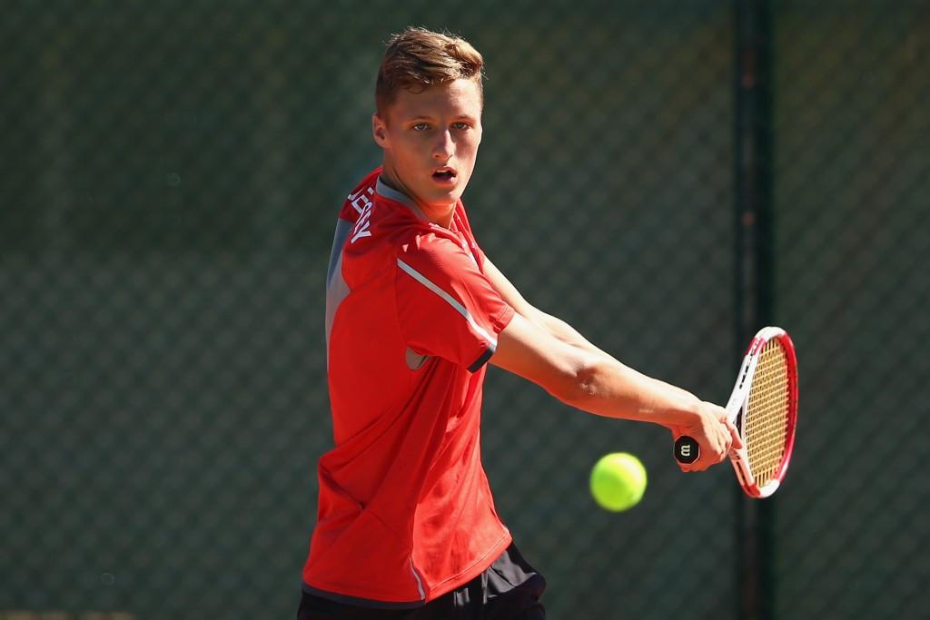 Stuart Parker of Jersey won the men's singles tennis gold medal ©Getty Images