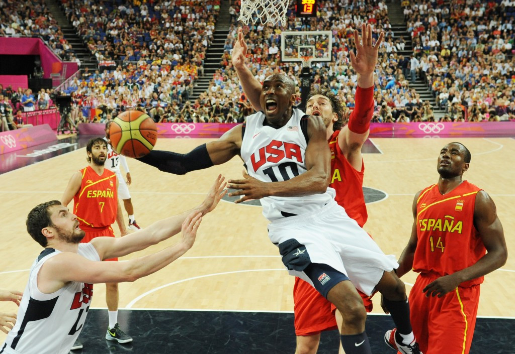 Kobe Bryant won two Olympic gold medals with the United States basketball team ©Getty Images