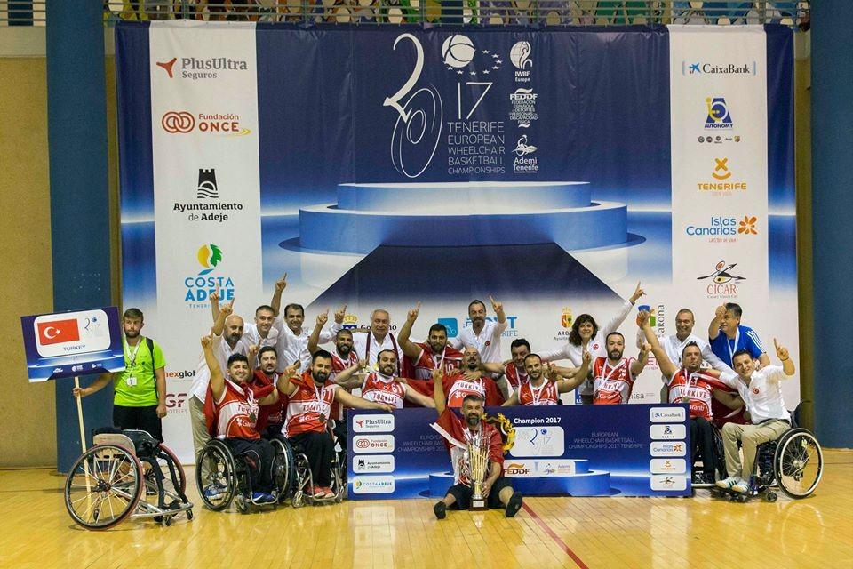 Turkey won the men's title at the IWBF European Championships ©IWBF