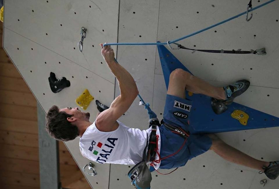 Home favourite Ghisolfi makes strong start at European Climbing Championships