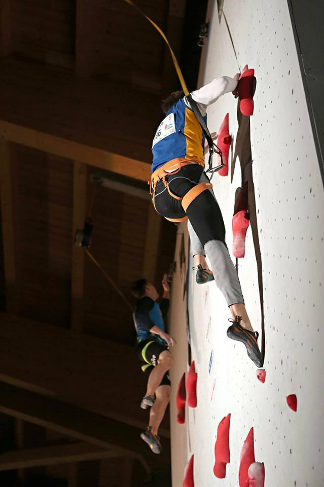 The routes proved to be testing today for the climbers ©European Climbing Championships/Facebook