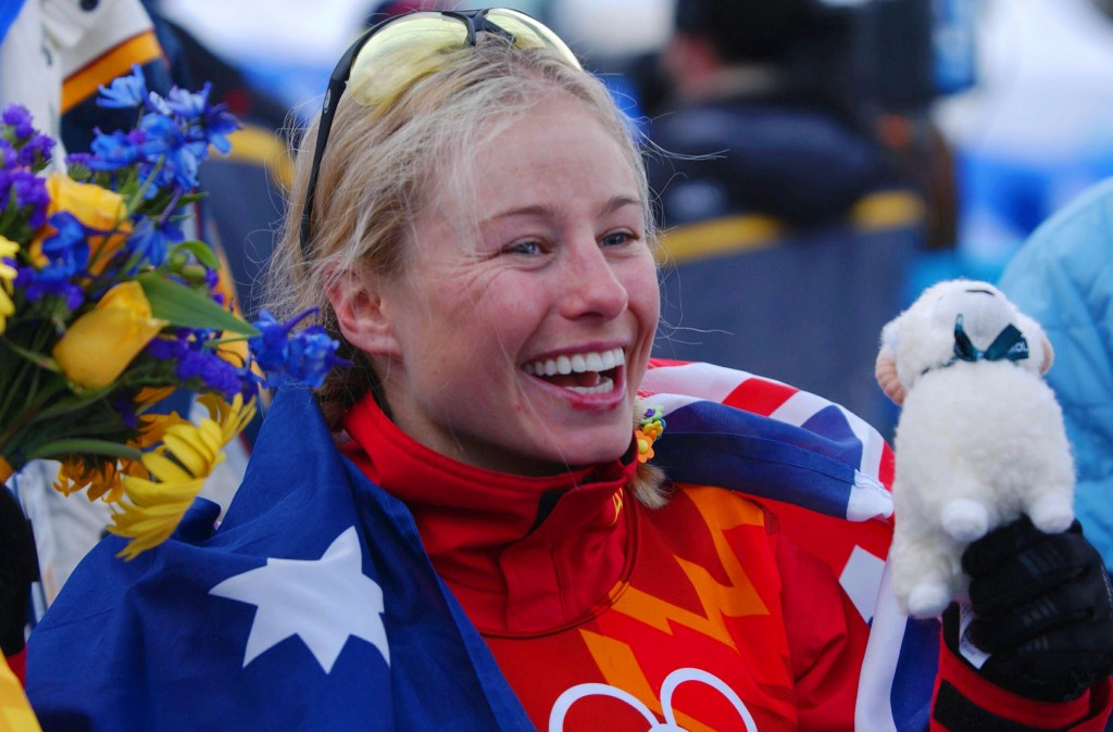 Alisa Camplin-Warner won Australia's second Winter Olympic gold when she topped the women's aerials podium at Salt Lake City 2002 ©Getty Images