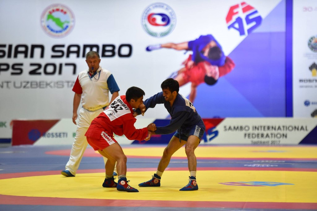 Tajikistan claim double gold on second day of Asian Sambo Championships