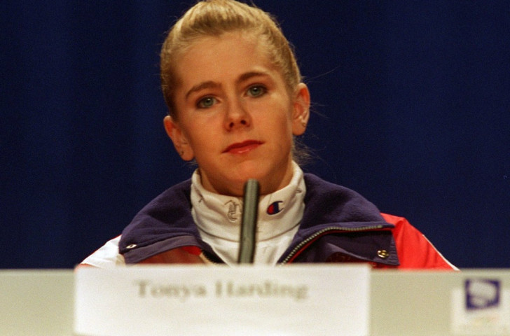 Tonya Harding at her Lillehammer Winter Games pre-event press conference in 1994 ©Getty Images
