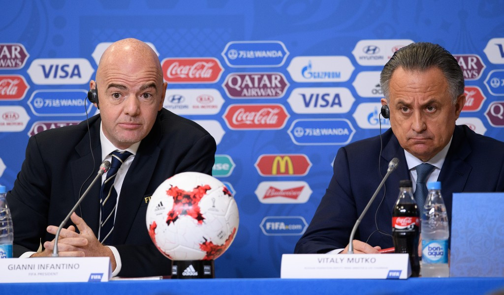 Infantino says drugs tests at 2014 World Cup on Russian footballers were clean