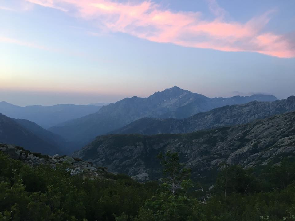 The GR 20 consists of a trail ascending and descending mountain after mountain across the centre of Corsica ©ITG