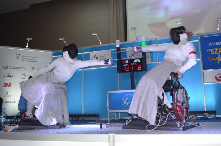 Two golds and a silver were won by China today at the IWAS Wheelchair Fencing World Cup in Warsaw ©Monika Dąbrowska/Integration Sports Club AWF Warsaw
