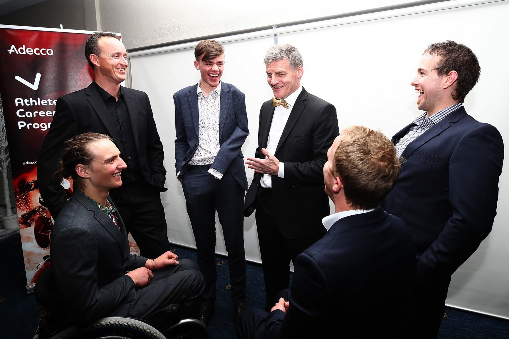 New Zealand's Paralympians met Prime Minister Bill English ©Getty Images