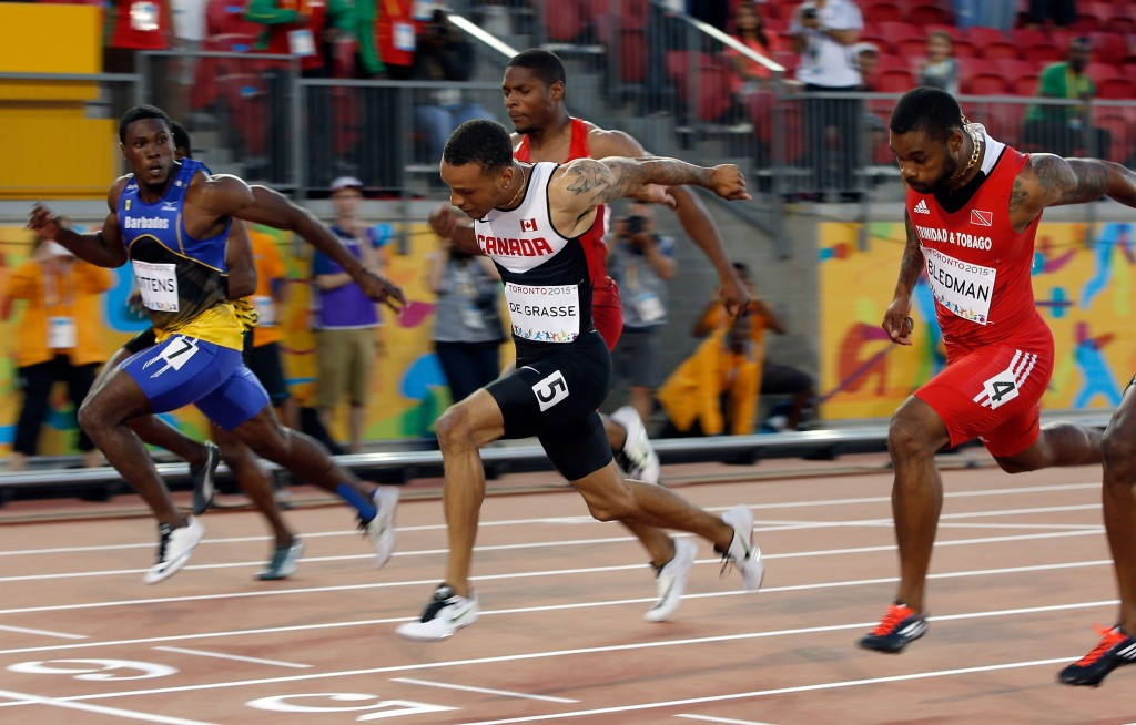 De Grasse delivers Canadian 100m glory while United States enjoy golden day at Toronto 2015
