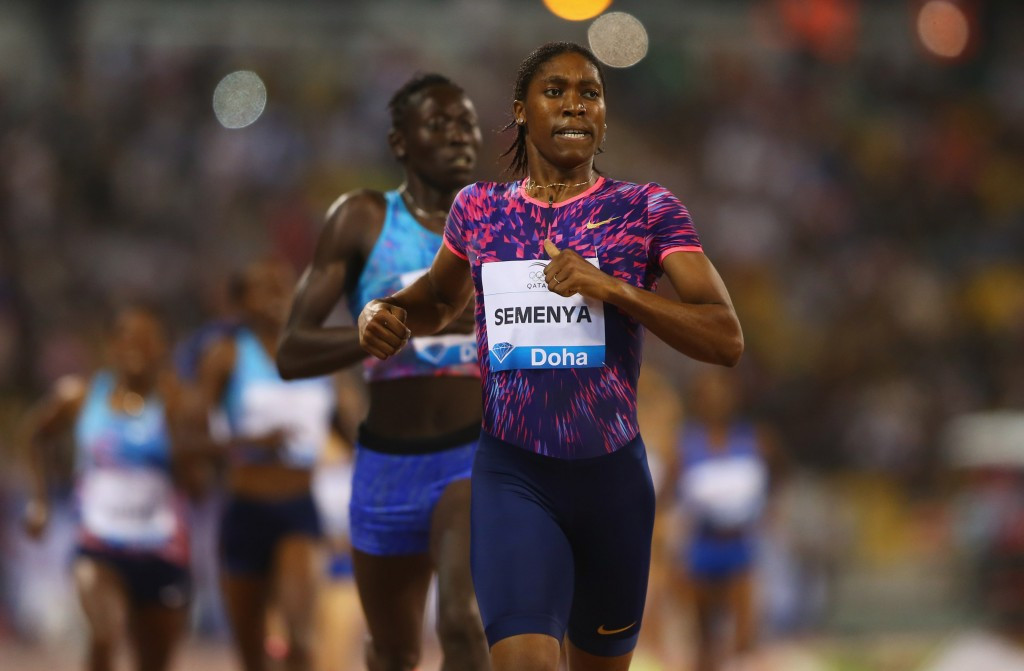 New research by the IAAF could impact medically upon runners such as Caster Semanya, picured winning this year''s Doha Diamond League 800m ©Getty Images