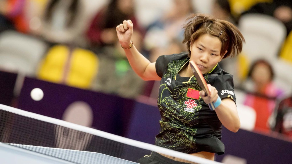 China's Gu Yuting beat fifth seed Miu Hirano of Japan in the opening round of the women's singles event ©ITTF/APAC Sport Media