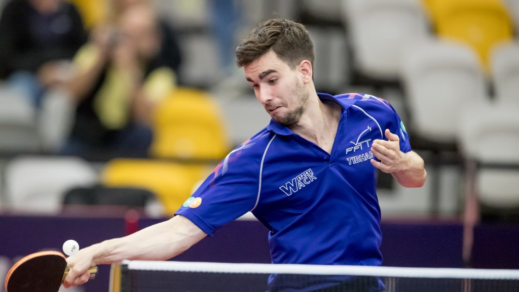 France's Tristan Flore eliminated second seed Koki Niwa of Japan from the men's singles competition on the opening day of the ITTF Australian Open ©ITTF/APAC Sport Media