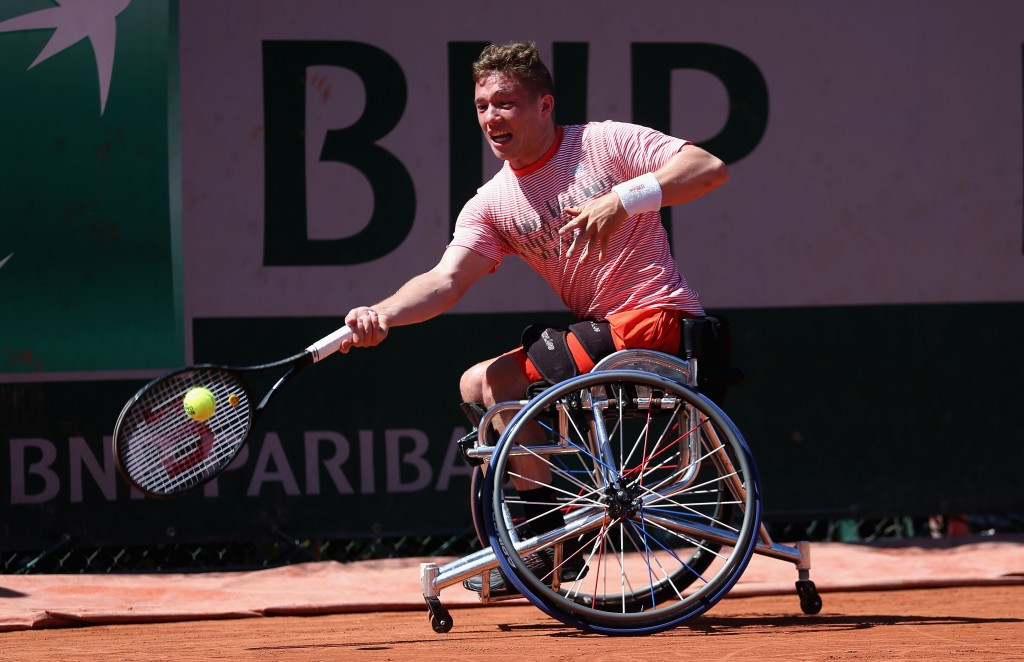 Britain's Alfie Hewett earned a maiden Grand Slam title at the French Open ©Getty Images