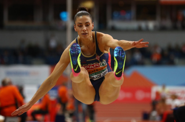 European indoor and outdoor long jump champion Ivana Španović of Serbia will meet the American who won the Olympic gold medal at Rio 2016, Tianna Bartoletta, in Lausanne ©Getty Images