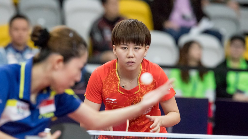 China's Chen Xingtong overcame Singapore's Yu Mengyu to book her place in the quarter-finals of the women's singles competition at the Australian Open i the Gold Coast ©ITTF/APAC Sport Media