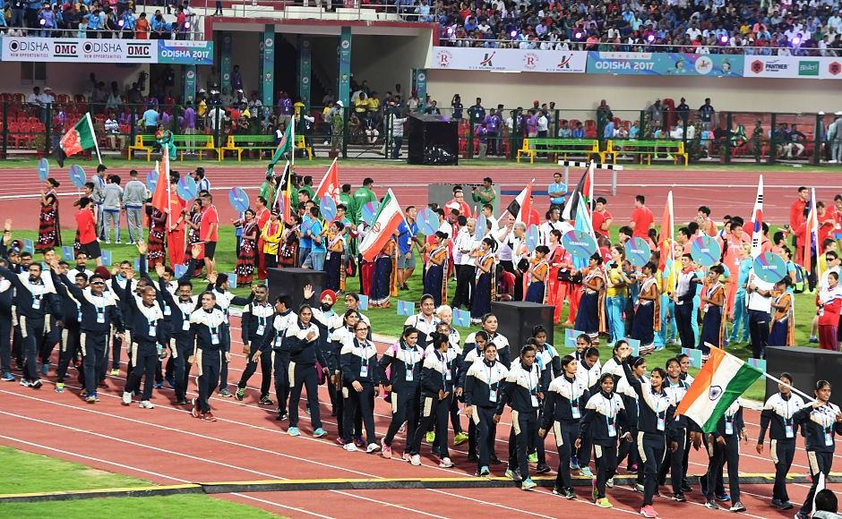 The Opening Ceremony of the 22nd edition of the Asian Athletics Championships was attended by IAAF President Sebastian Coe ©Getty Images