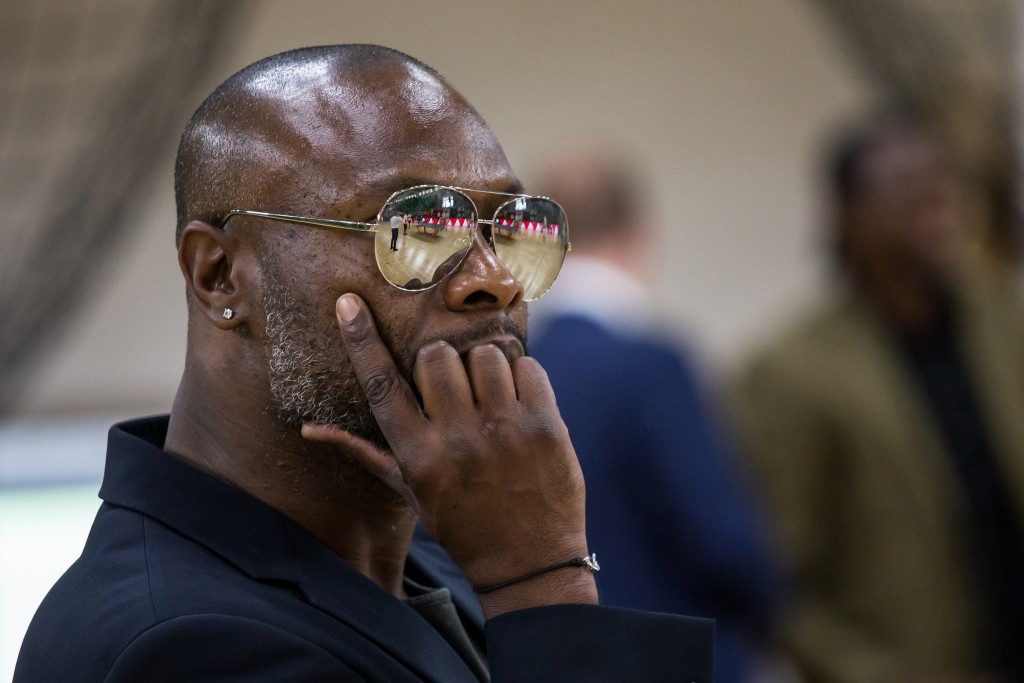 Former French international football player Willam Gallas was among those in attendance at the finals ©International Teqball Federation