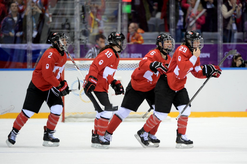 Canada beat the United States to the women's Olympic ice hockey gold medal at Sochi 2014 ©Getty Images