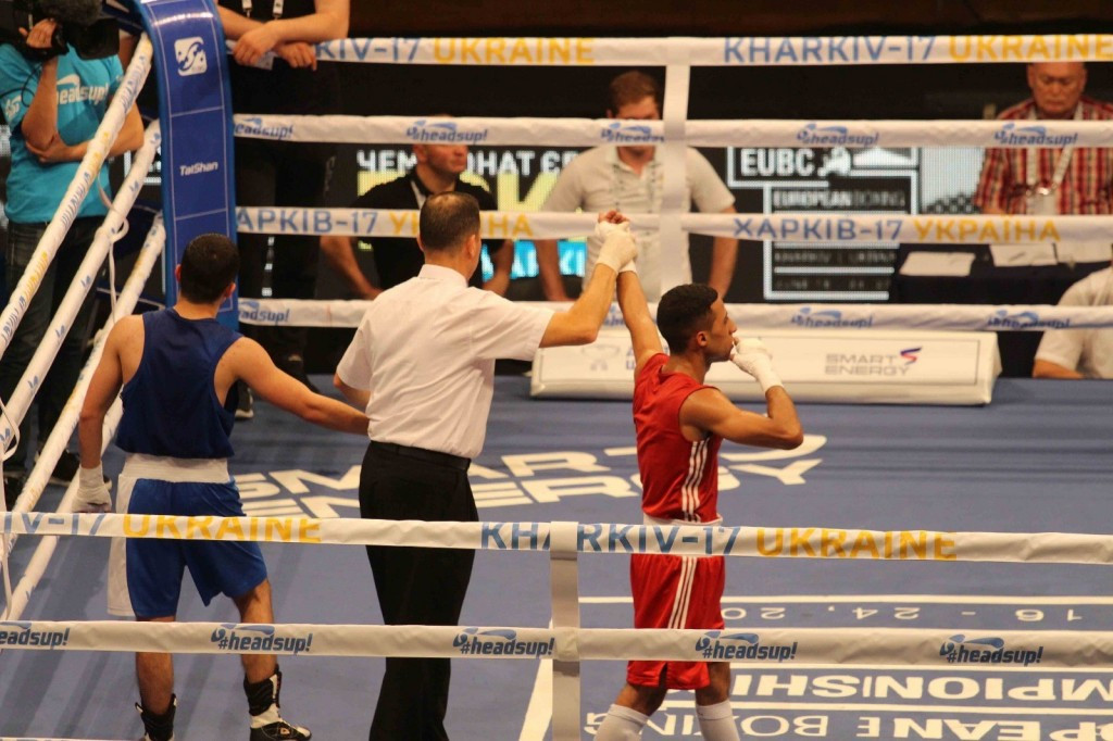 Kharkiv in Ukraine successfully hosted this year's European Championships ©GB Boxing