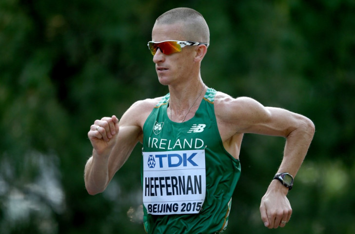 Ireland's 2013 50km race walk world champion Robert Heffernan has said a blood test of his requiring checking came immediately after he had been operated upon and was followed by an all clear ©Getty Images