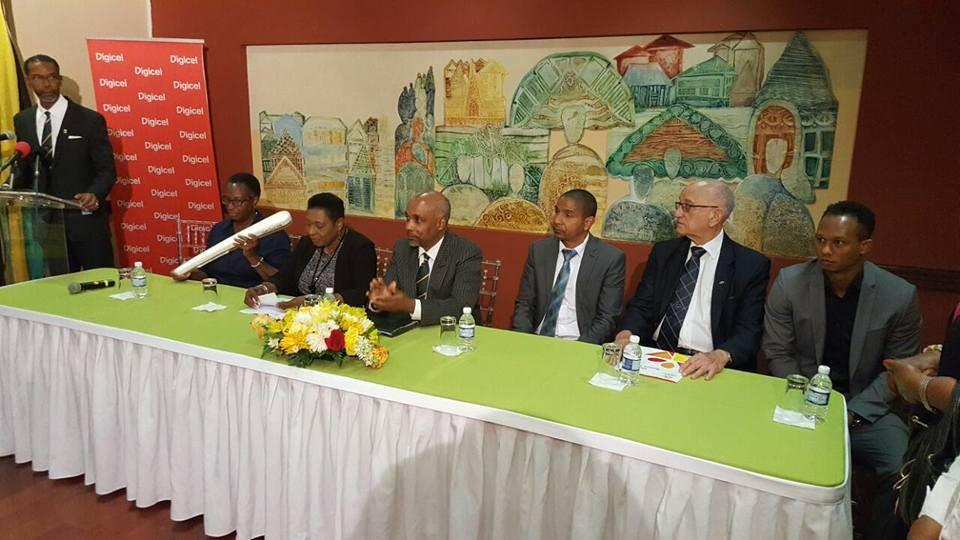 Jamaican officials greet Gold Coast 2018 Queen's Baton in Kingston
