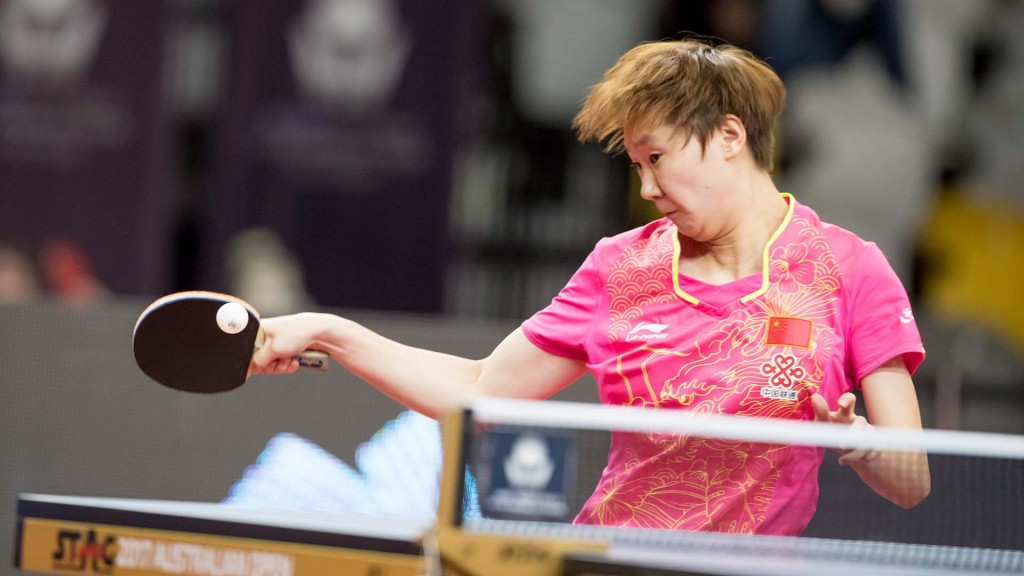 Chinese qualifier Wang Manyu claimed a hugely surprising victory over top-seeded compatriot Zhu Yuling today ©ITTF/APAC Sport Media