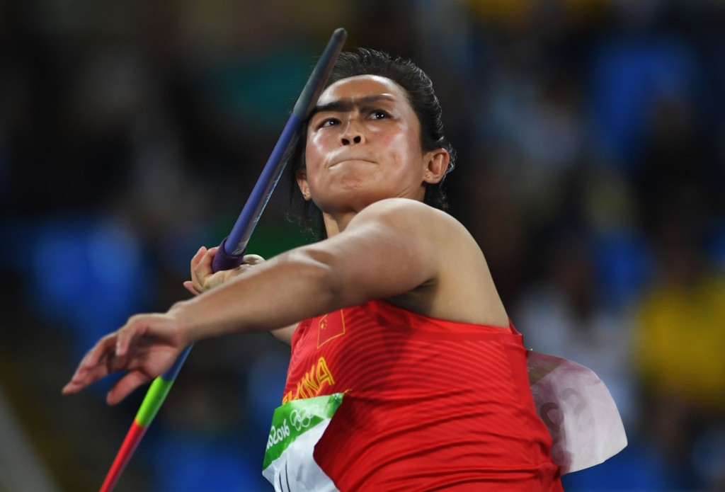 Li Lingwei triumphed in the women's javelin competition ©Getty Images