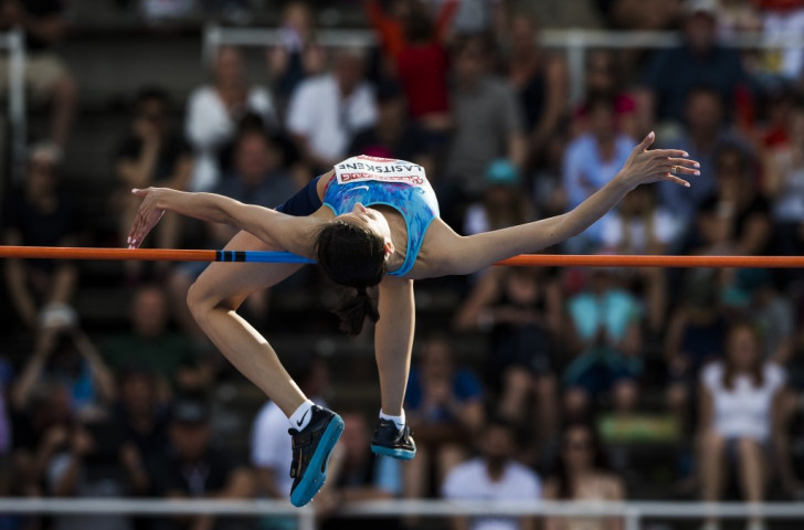 Russia's world high jump champion Mariya Lasitskene competing under a neutral banner, moved to equal-fifth on the all-time list with 2.06m in Lausanne ©Getty Images