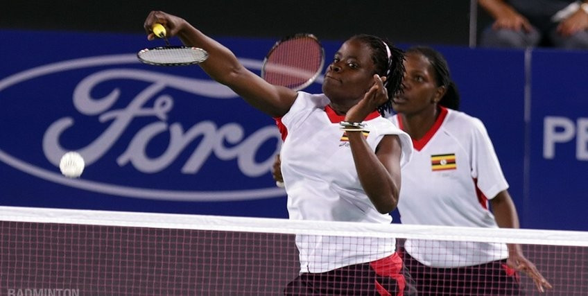 Margaret Nankabirwa competed at the Glasgow 2014 Commonwealth Games ©Badminton England