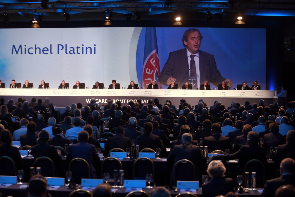 Michel Platini was replaced as UEFA President last September ©Getty Images