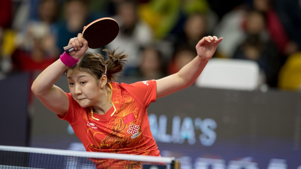 Chen Meng claimed the women's singles title, beating Wang Manyu in an all-Chinese final at the Australian Open ©ITTF/APAC Sport Media