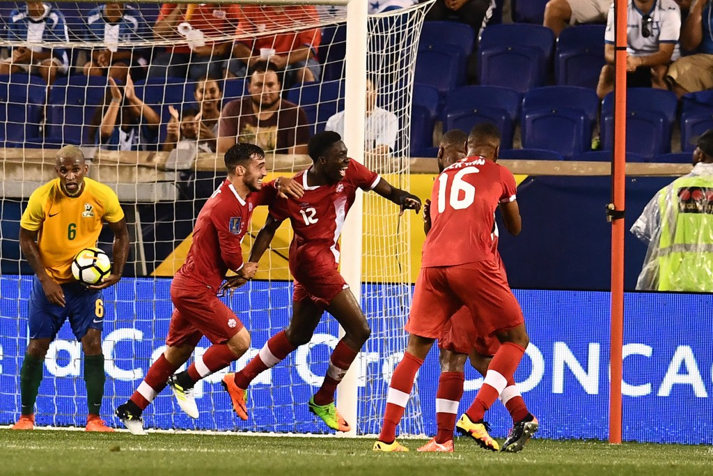 Alphonso Davies scored twice in the second half to guide Canada to a 4-2 victory over tournament debutants French Guiana ©Getty Images
