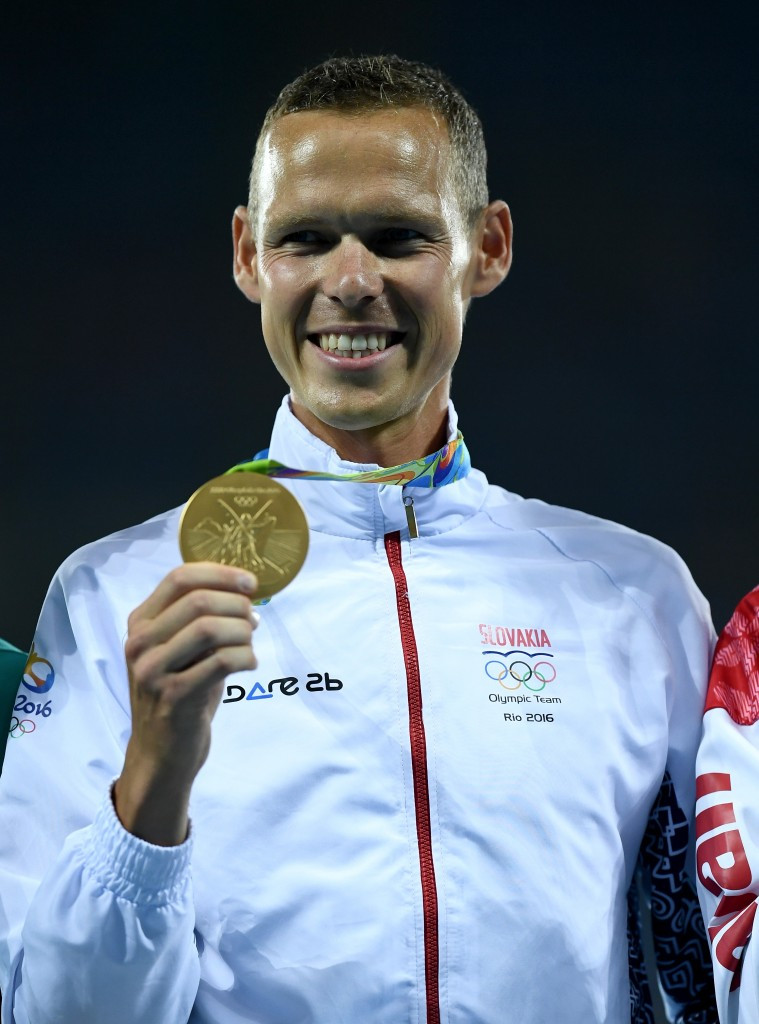Matej Tóth was the first athlete from Slovakia to win an Olympic medal in athletics when he claimed the gold medal in the 50km race walk at Rio 2016 ©Getty Images