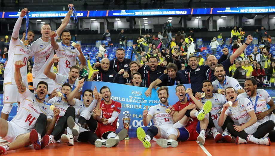 France defeat Brazil to win FIVB World League final in Curitiba