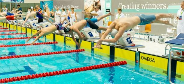 Action continued at the Schwimm und Sprunghalle im Europa Sportpark pool in the German capital today ©IPC