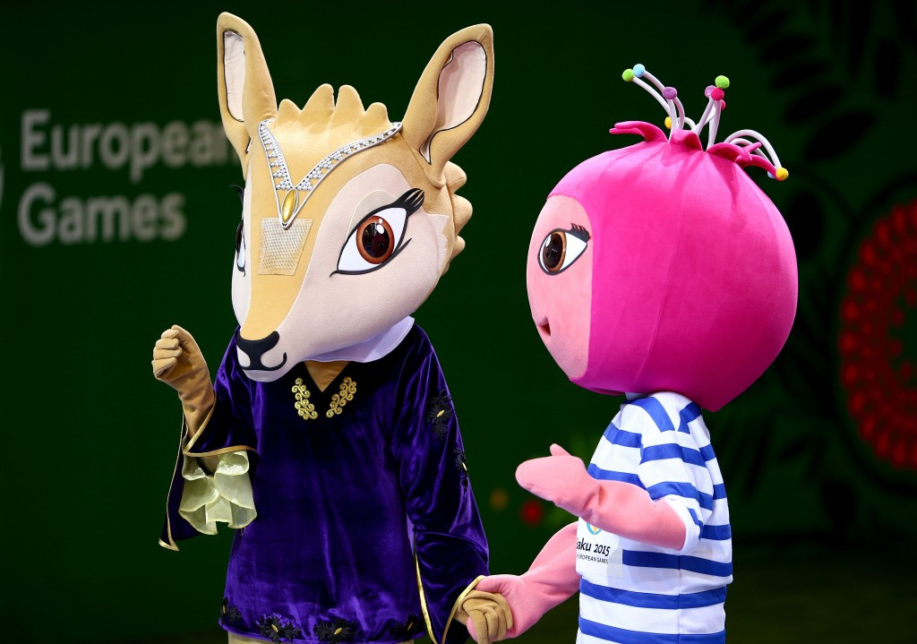 Jeyran and Nar were the official mascots of the 2015 European Games in Baku ©Getty Images