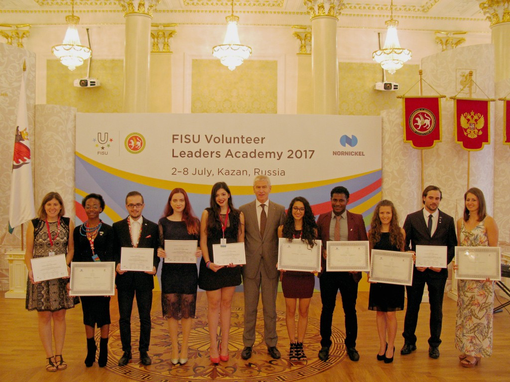 Internships at next month's Summer Universiade in Taipei were awarded to some project winners ©FISU