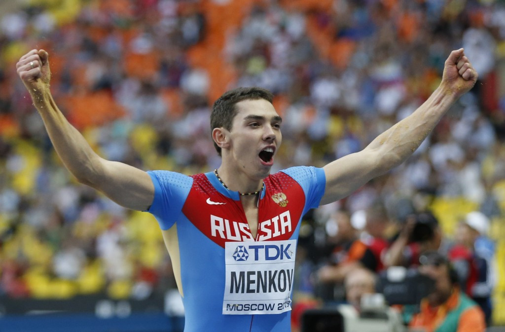 Aleksandr Menkov won the long jump at the 2013 World Championships ©Getty Images