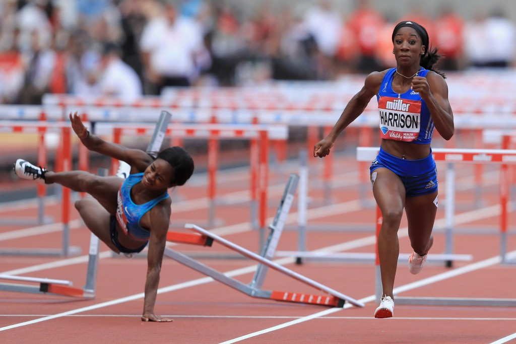Harrison makes London ambitions clear with 21st successive 100m hurdles win