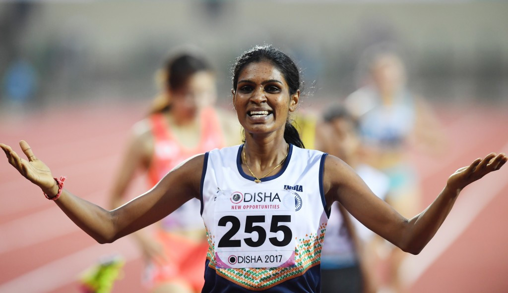 Sri Lanka's Nimali Waliwarsha Konda was crowned women's 800 metres champion after initial winner Archana Yadav of India was disqualified ©Getty Images