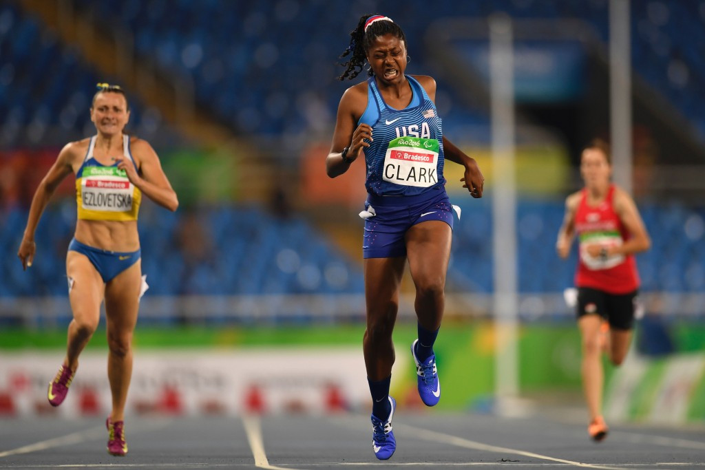 Breanna Clark broke the women's 400m T20 world record at last month's 2017 US Paralympics Track and Field National Championships ©Getty Images