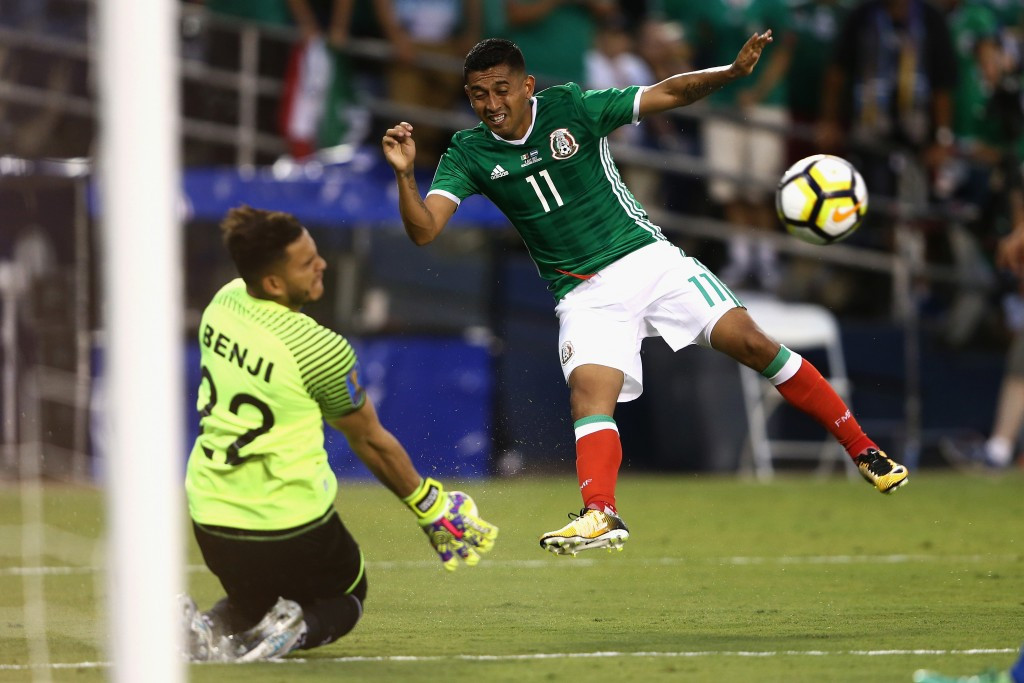 Mexico began the defence of their title with a win as they beat El Salvador ©Getty Images