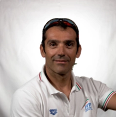 Italy's Giovanni Achenza won the men's PTWC event at the International Triathlon Union Para-triathlon World Cup in Iseo ©ITU