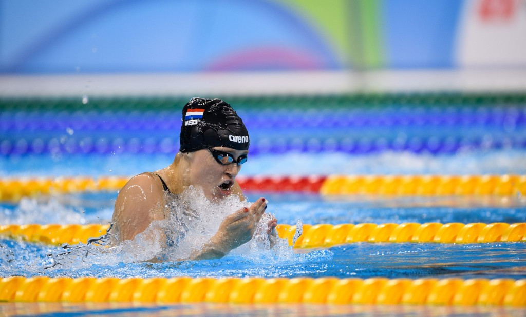 The Netherlands' Chantalle Zijderveld won the women's 200m breaststroke with a world record time  ©Getty Images