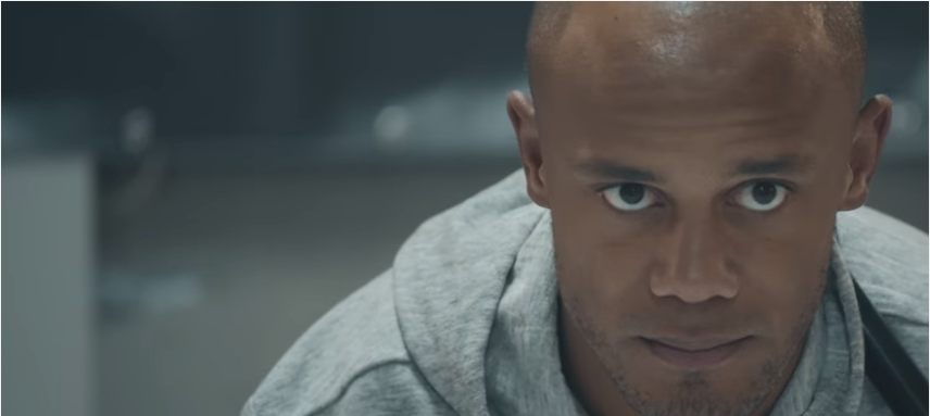 Football star Kompany tries out curling for new Pepsi Max advert