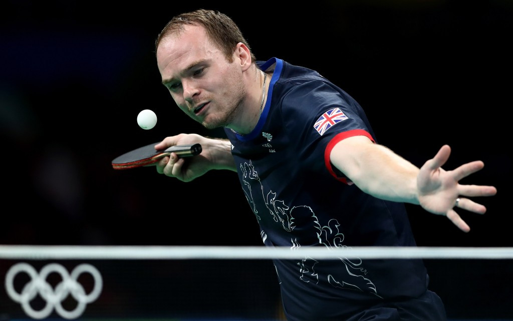 Paul Drinkhall was a member of the England men's team which won a bronze medal at the 2016 World Championships ©Getty Images