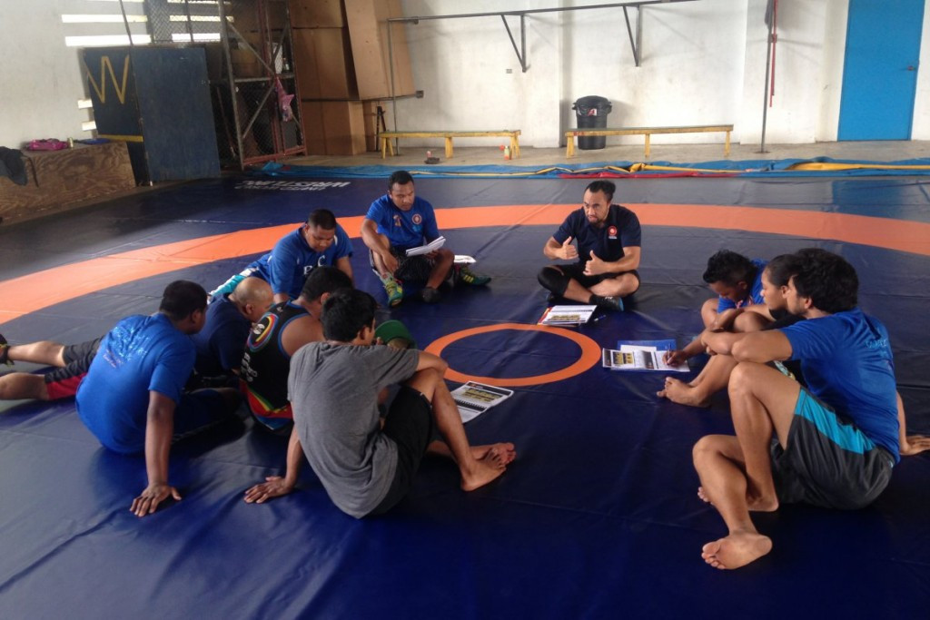 Wrestling coaches course held in Palau