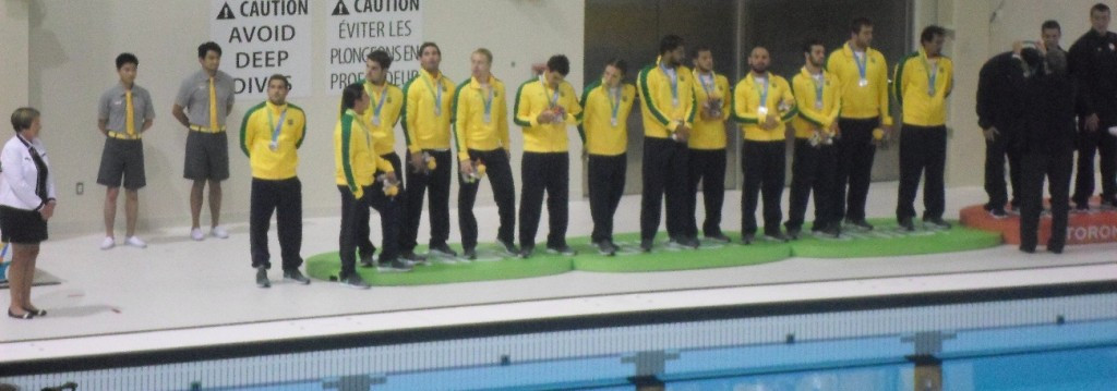 Bezerra was a member of the Brazilian team who won men's water polo silver at the Pan American Games