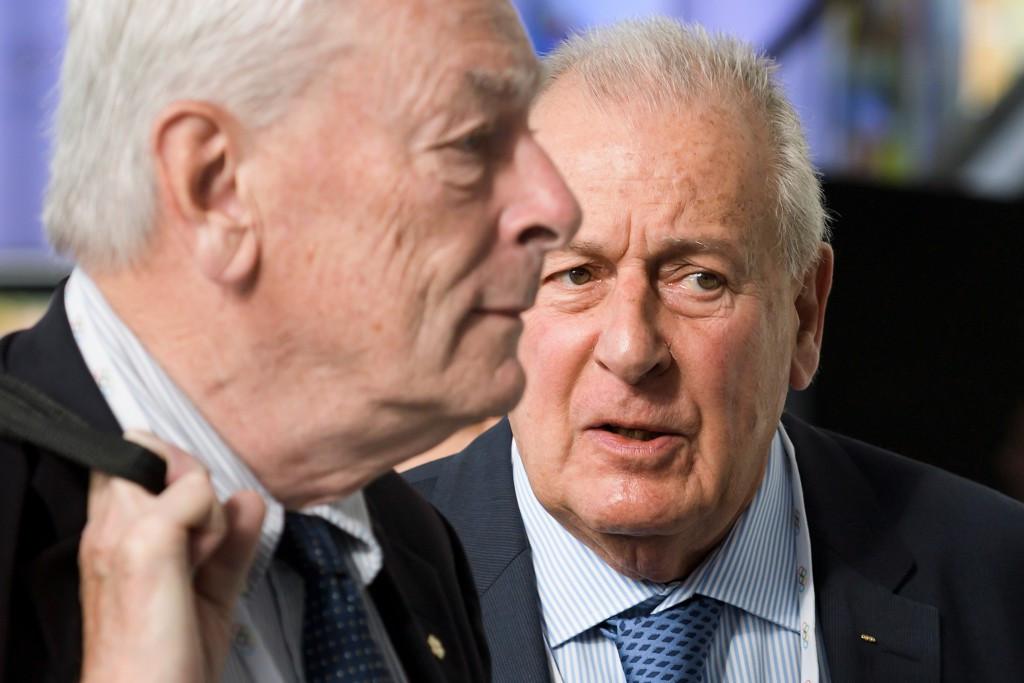 Senior IOC member Richard Pound, left, alongside legal advisor François Carrard ©Getty Images
